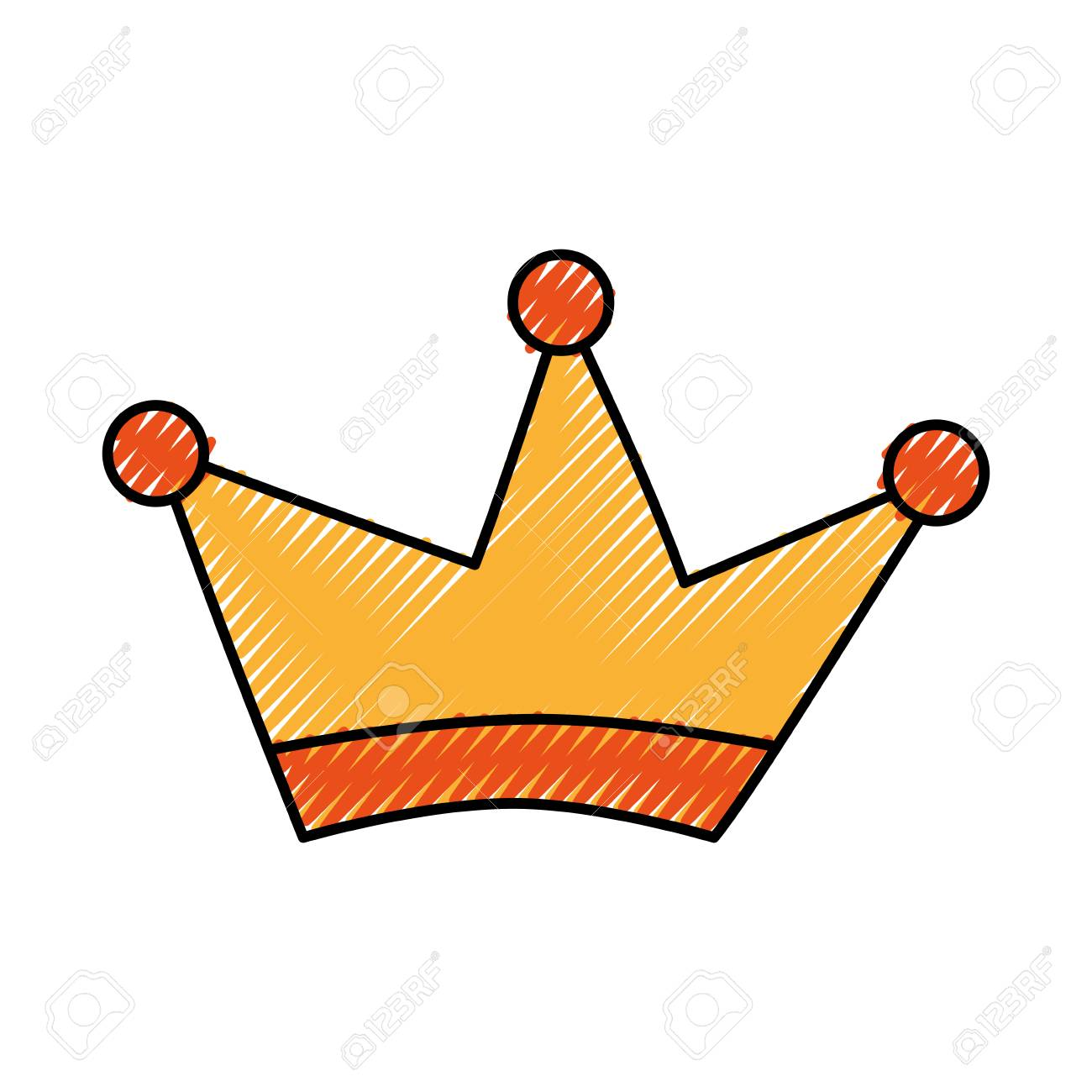 1300x1300 King Crown Drawing Isolated Icon Vector Illustration Design