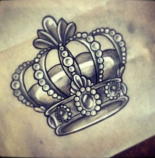 600x612 101 Crown Tattoo Designs Fit For Royalty