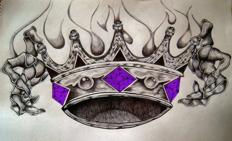 900x550 King Crown Tattoos Designs