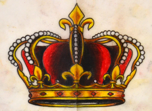 500x366 Crown Drawing