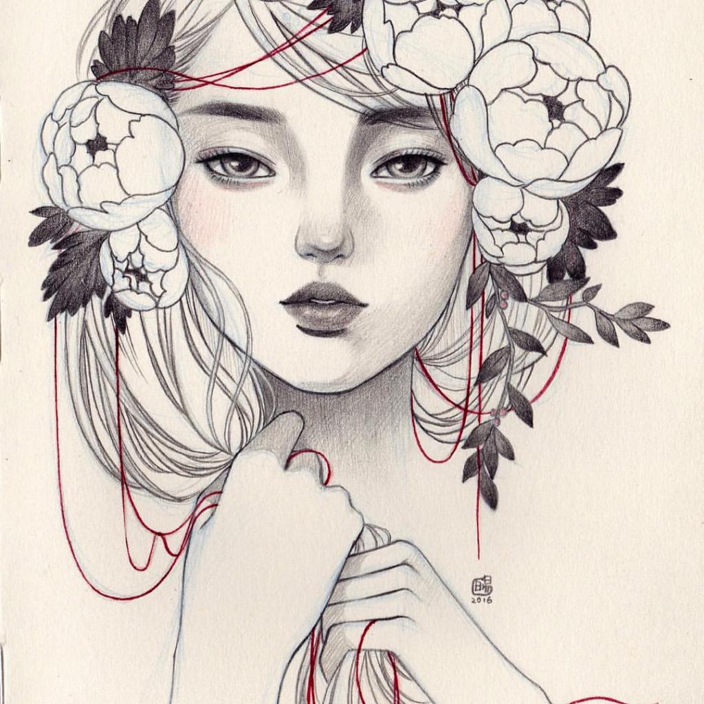 1024x1024 Flower Crown Drawing Flower Crown Drawing Tumblr Clover Gao
