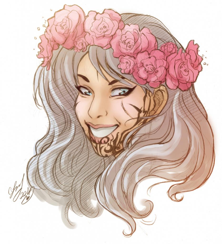 932x1024 Flower Crown Drawing Flower Crown Drawing Tumblr Tough Little