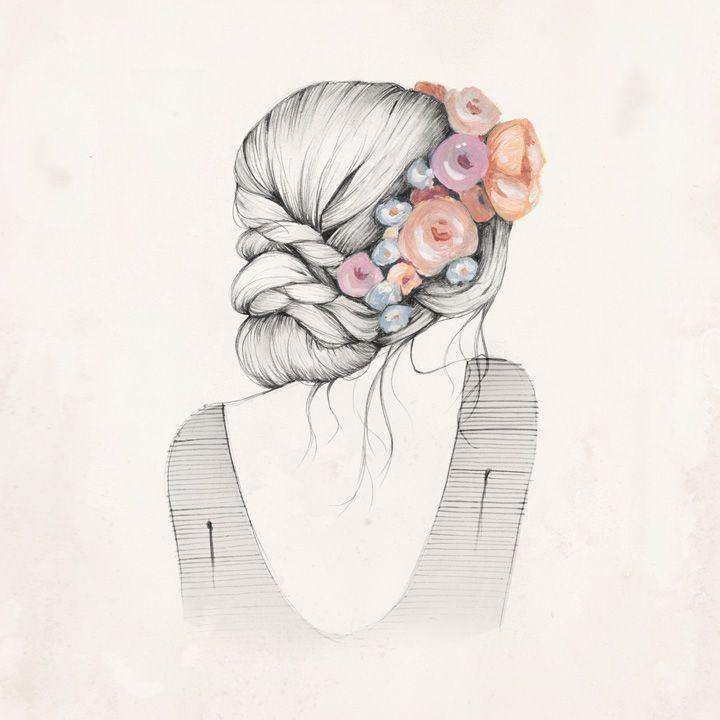 720x720 Gallery Tumblr Flower Crown Drawing,