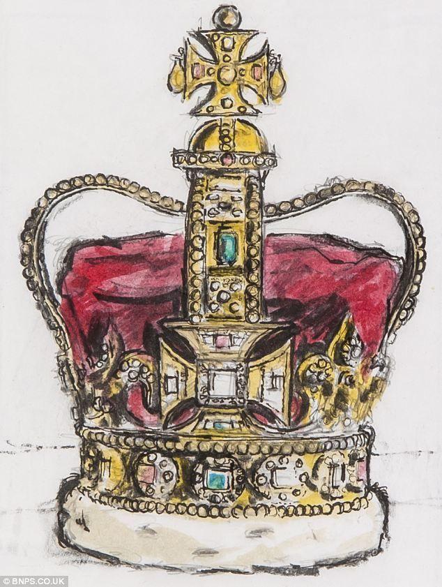 634x841 Drawn Crown British Crown