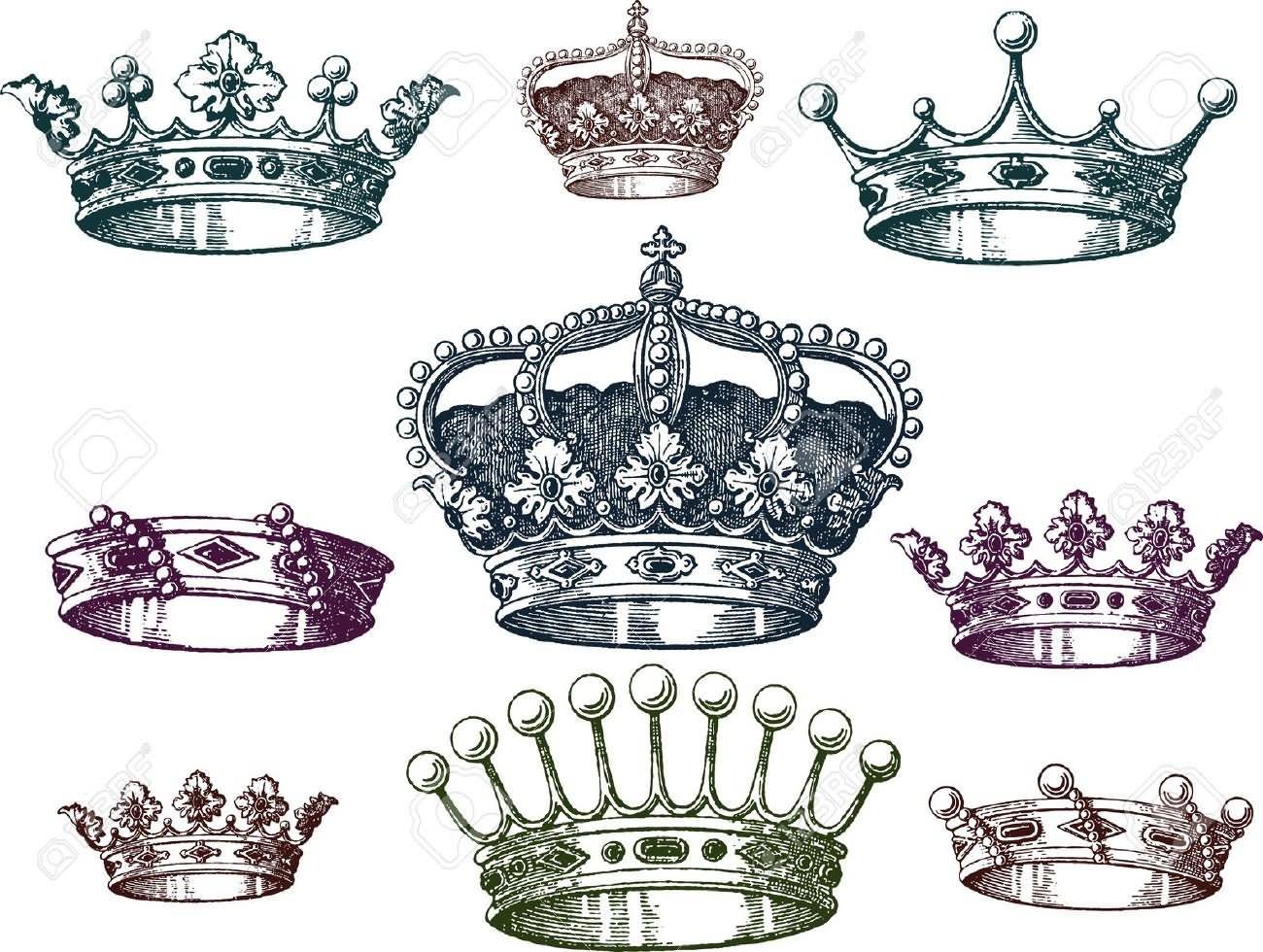 1300x980 Queen Crown Tattoo Designs
