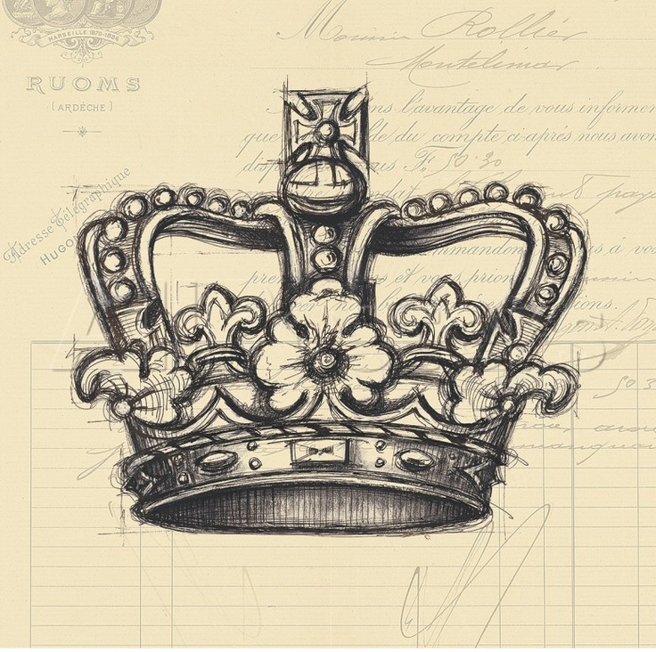 736x732 Drawing Of Crown Tattoo