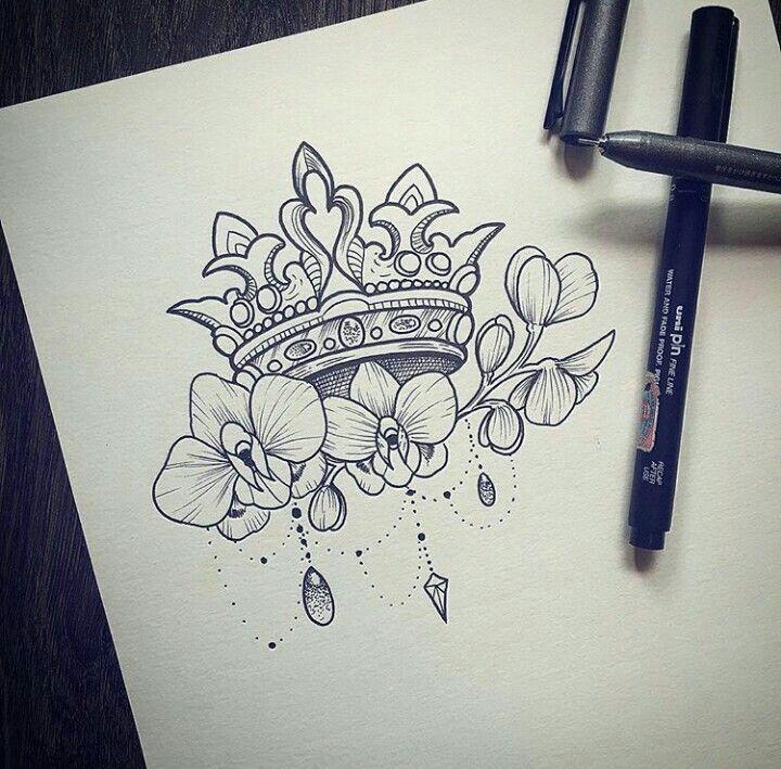 720x709 De Recherche D'Images Pour Queen Crown Tattoo Drawing
