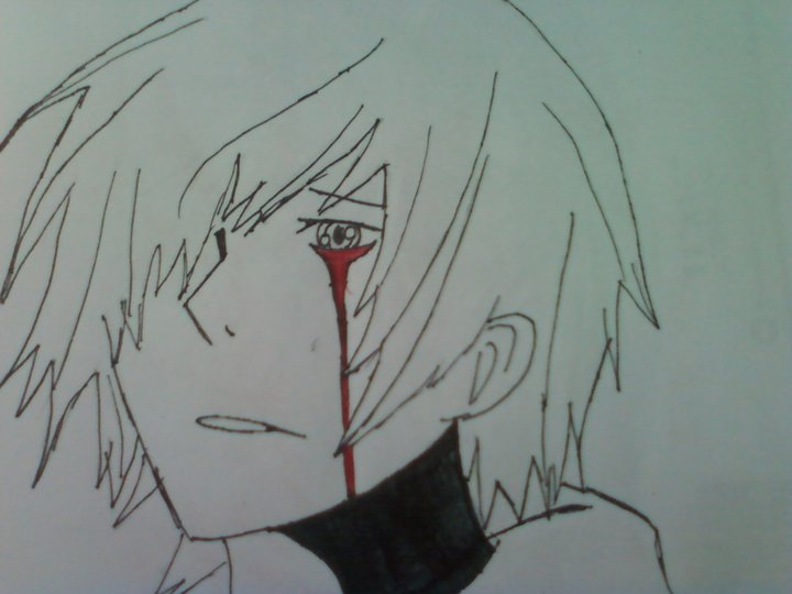 720x540 Anime Boy Crying Blood By Watashiwakareoai On DeviantArt