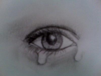400x300 Crying Eye Drawing By Natasha555