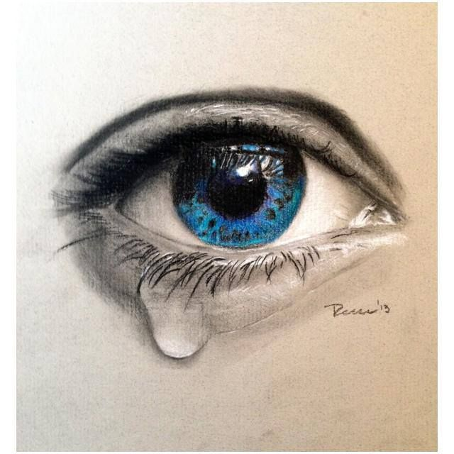 640x640 realistic crying eye tattoo design by rockabillyreese