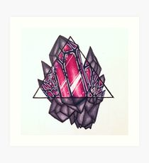 210x230 Crystal Cluster Drawing Art Prints Redbubble