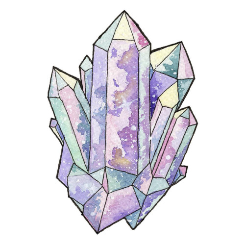 500x500 Painted This Pastel Crystal Cluster For A Speedpaint On My Youtube