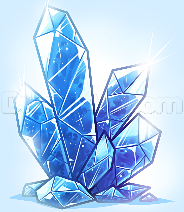 731x840 How to Draw Crystals, Step by Step, Stuff, Pop Culture, FREE