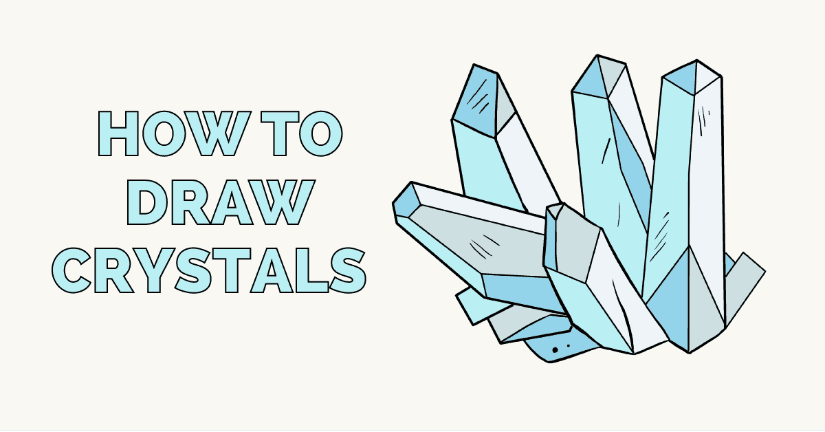 1200x628 How To Draw Crystals Really Easy Drawing Tutorial
