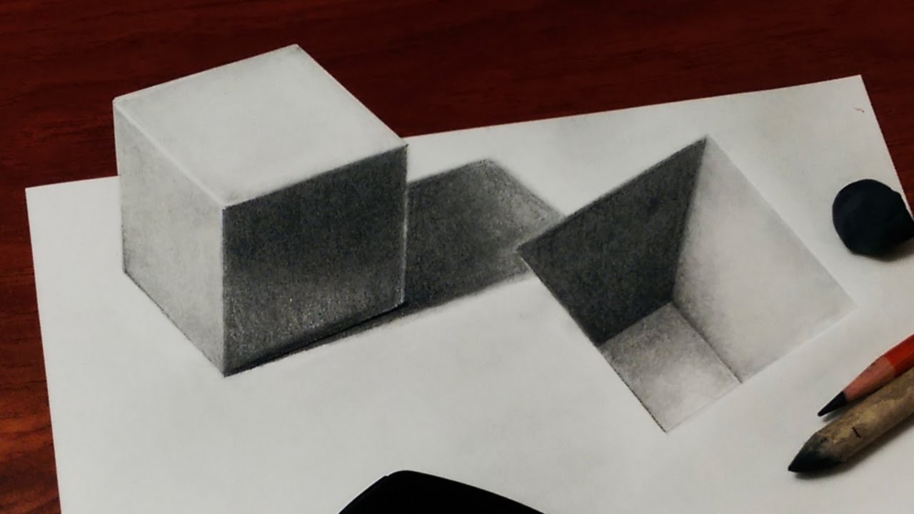Cube drawing at free for personal use for 3d sketch online