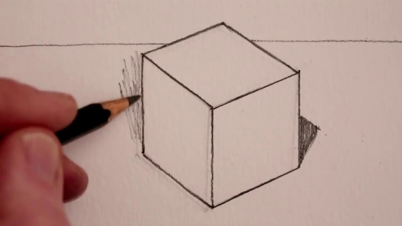 1280x720 How To Draw A Cube Step By Step