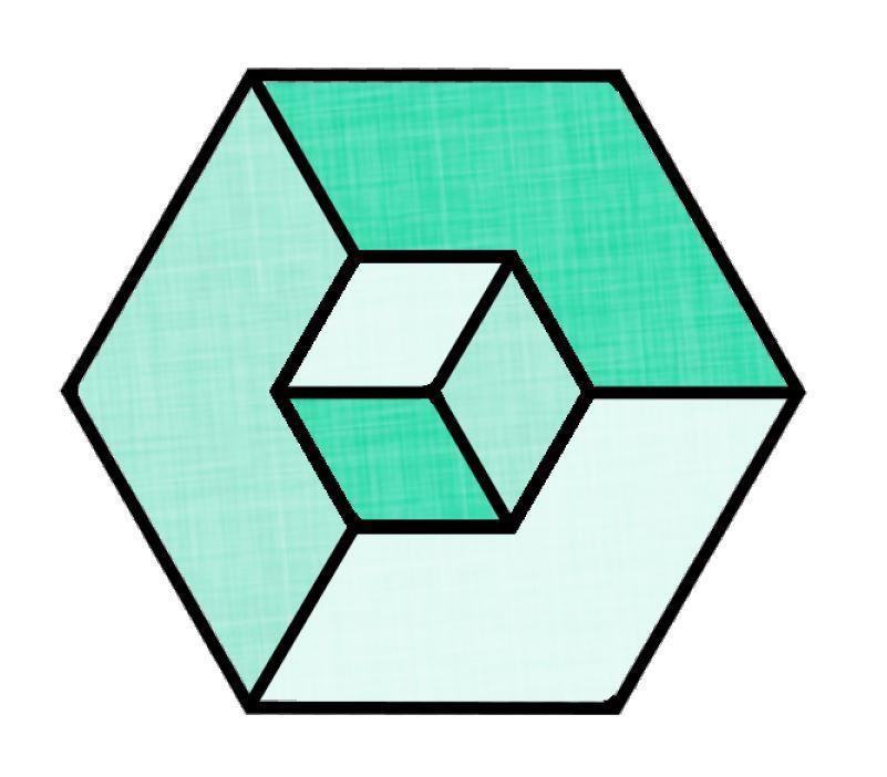801x702 A 3d Cube With Paintshop