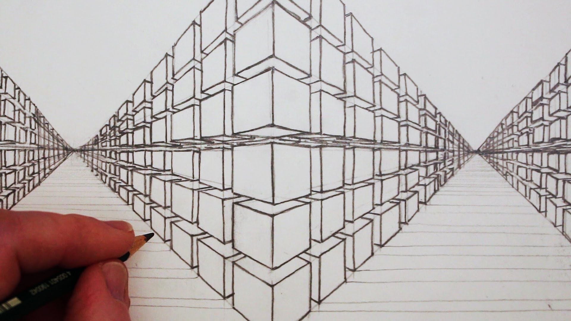 1920x1080 How To Draw A 3d Cube In Two Point Perspective