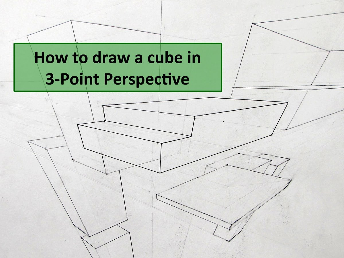 1200x900 How To Draw A Cube In 3 Point Perspective