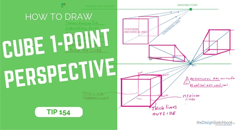 810x450 How To Draw A Cube With 1 Point Perspective Product Design