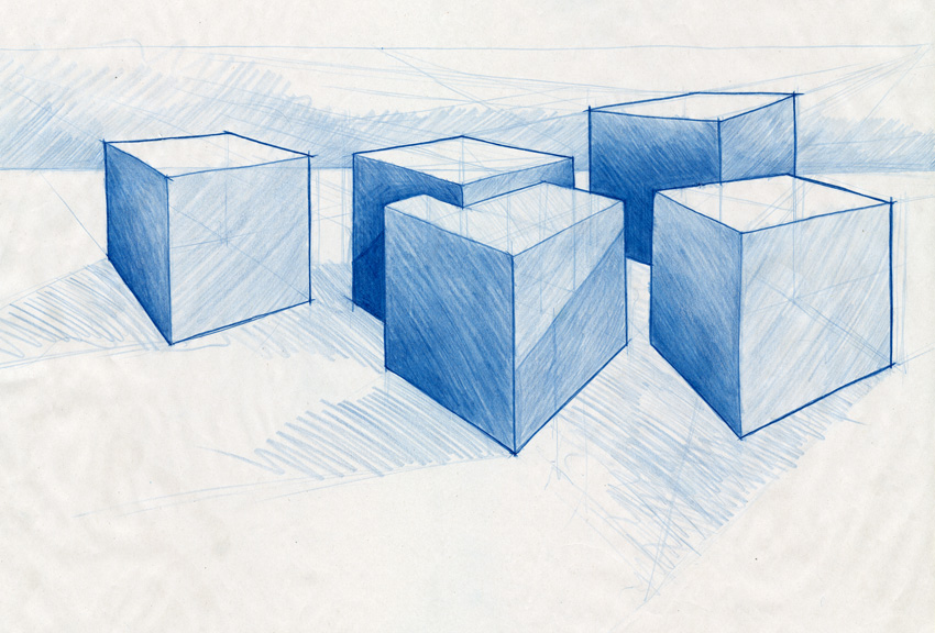 850x576 Mike Cubes2small.jpg Playing With Cube Drawings
