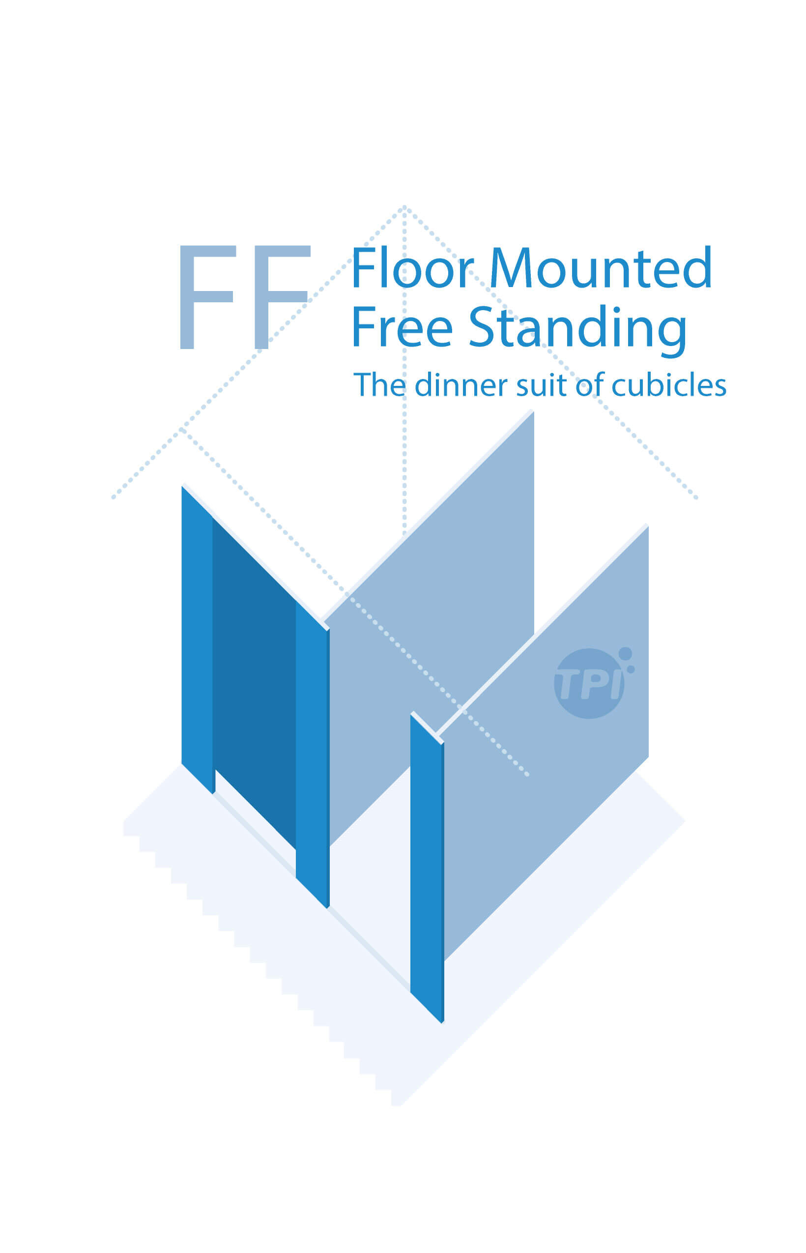 1640x2549 Cubicle Floor Mounted Free Standing (Ff) Tpi Commercial Joinery