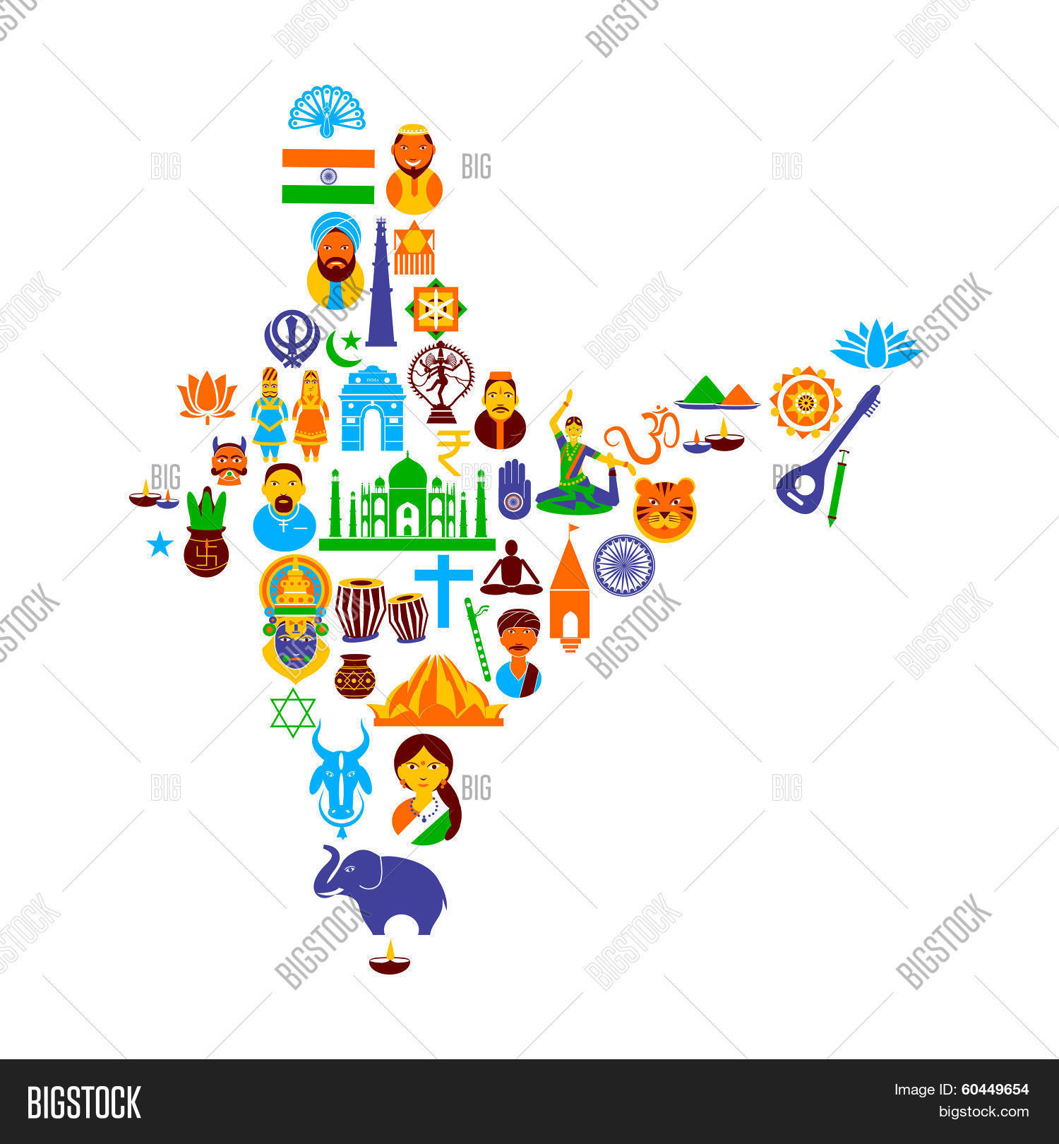 1500x1620 Drawing Of Indian Culture Indian Culture Vector Photo Bigstock