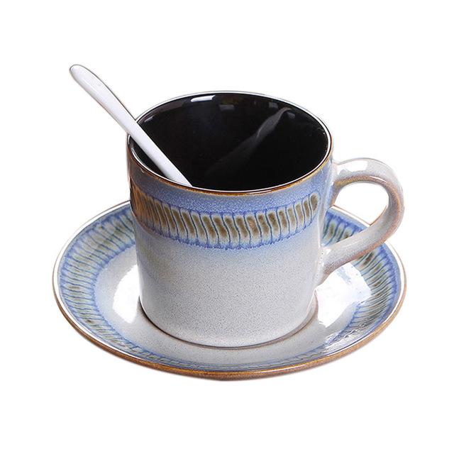 640x640 Hand Drawings Reaction Coloured Glaze Cappuccino Coffee Dish