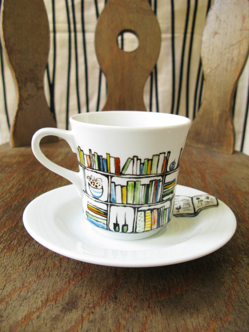 816x1088 Hand Painted Porcelain Cup And Saucer