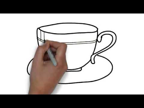 480x360 How To Draw Tea Cup And Saucer
