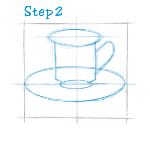 500x500 How To Draw A Tea Cup (Beginning)