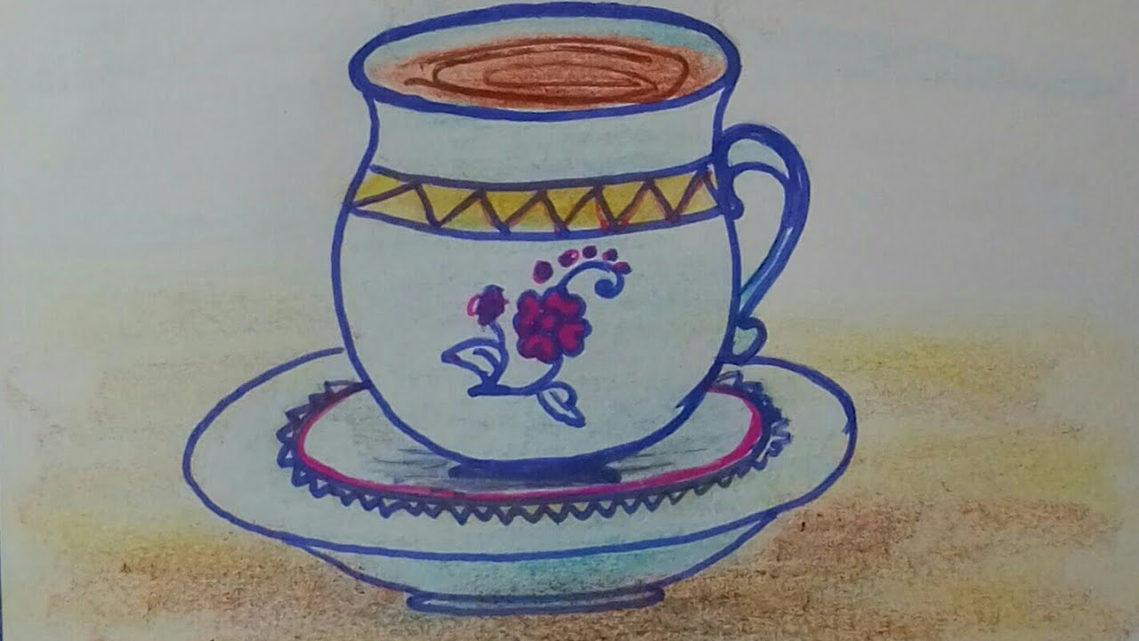 1280x720 How To Draw Cup And Saucer