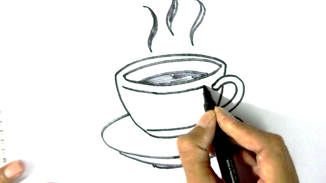 1280x720 How To Draw Tea Cup Amp Saucer In Easy Steps For Children
