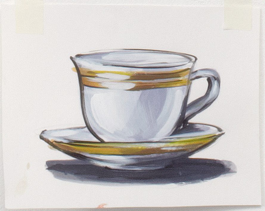 889x709 Tea Cup And Saucer By Lisa Milroy Shop Drawing Room