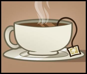 350x296 Drink Me Tea Cup Drawing How To Draw Tea, Tea How To Draw Lesson