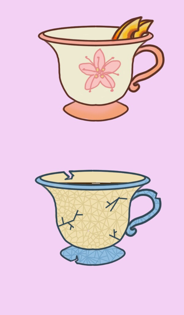 600x1024 Iced Peach Tea, Broken Tea Cup, By Whitewave For The Adoptables