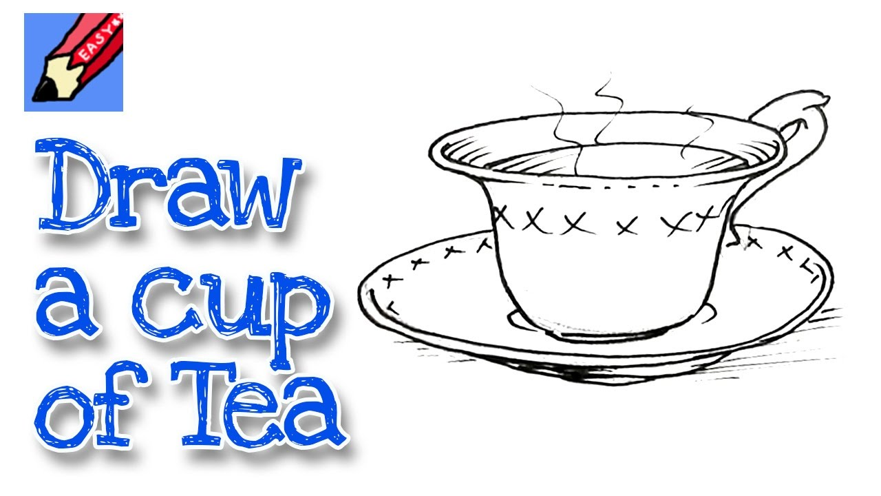 1280x720 How To Draw A Cup Of Tea Real Easy For Kids And Beginners