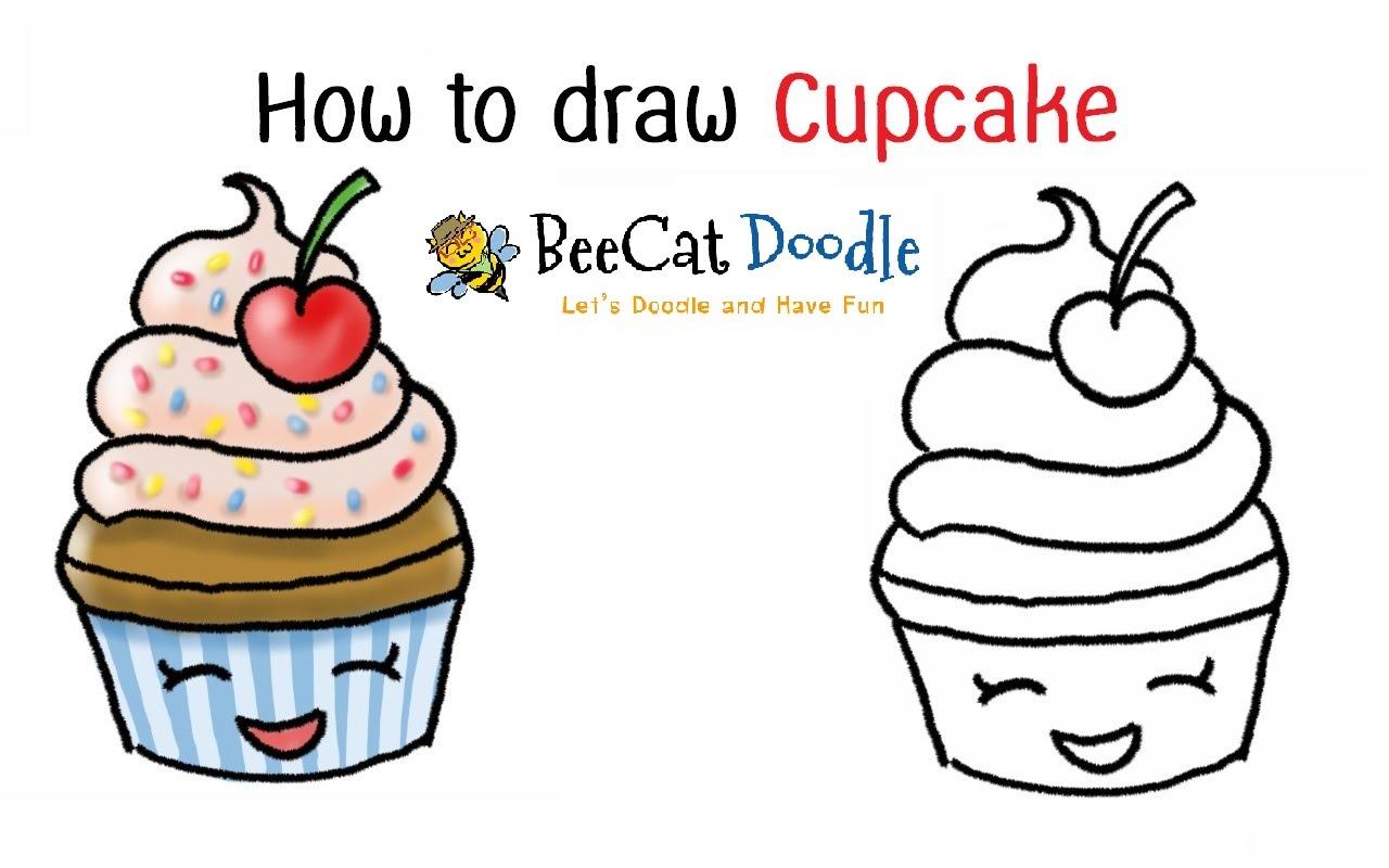1280x800 Cupcake Cartoon Drawing How To Draw A Cartoon Cupcake Easy