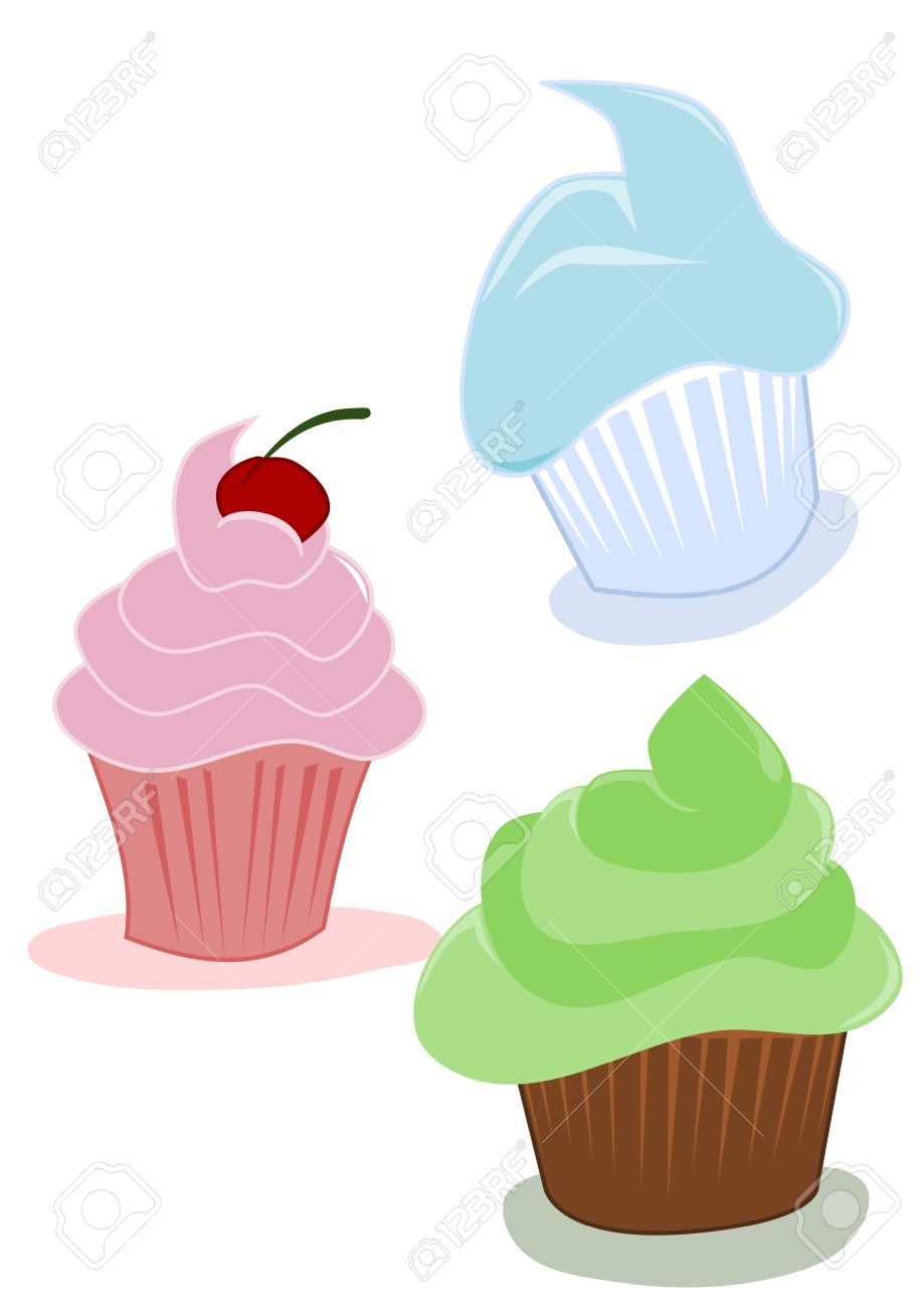 919x1300 Cupcakes, Cartoon Drawing Royalty Free Cliparts, Vectors,