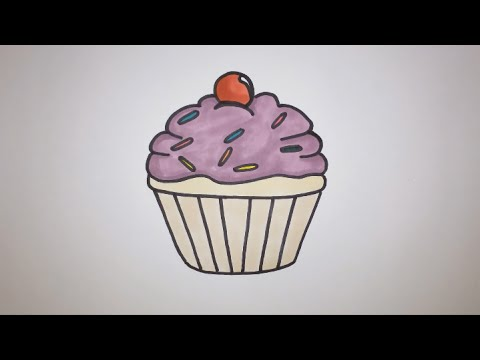 480x360 How To Draw A Cartoon Cupcake Step By Step (Easy)