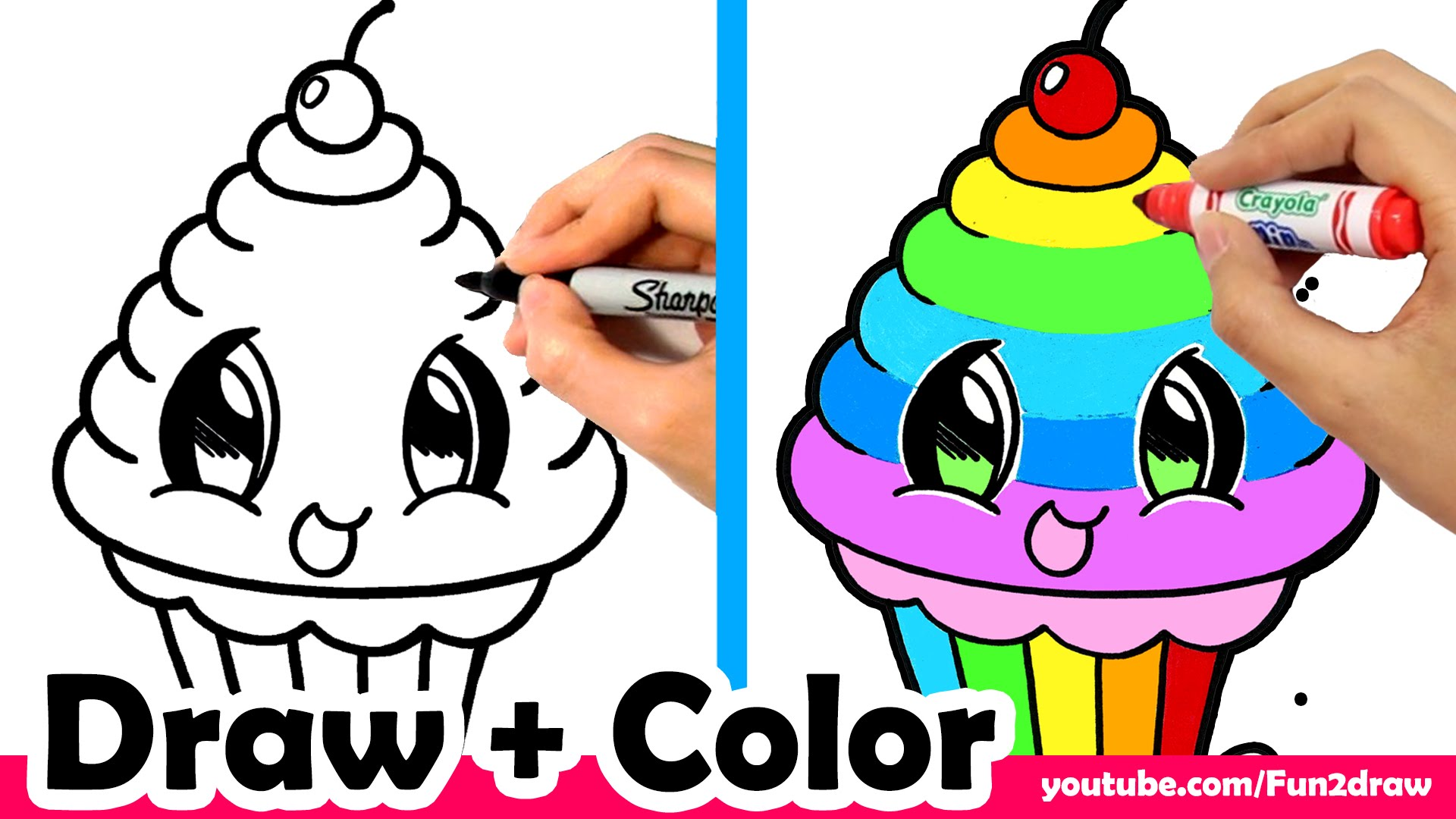 1920x1080 How To Draw A Rainbow Cupcake Cute + Easy Mei Yu