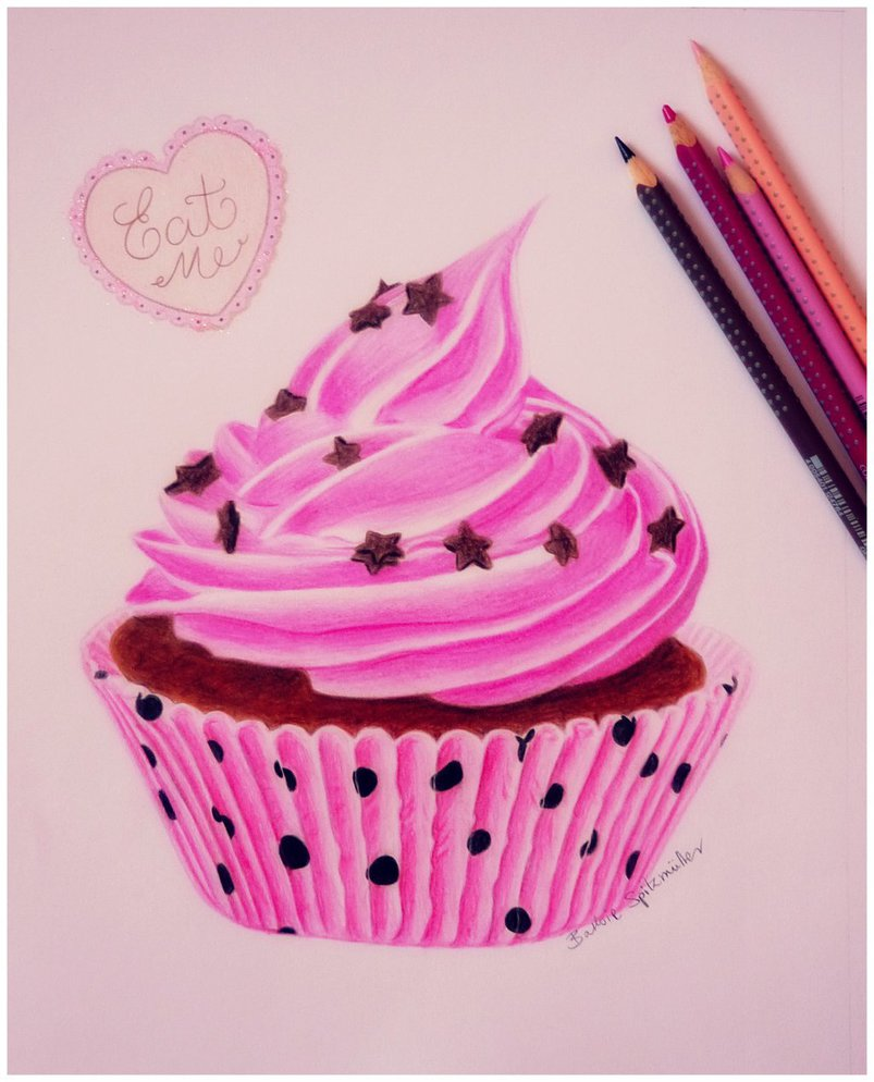 803x994 Cupcake Drawing By Barbiespitzmuller