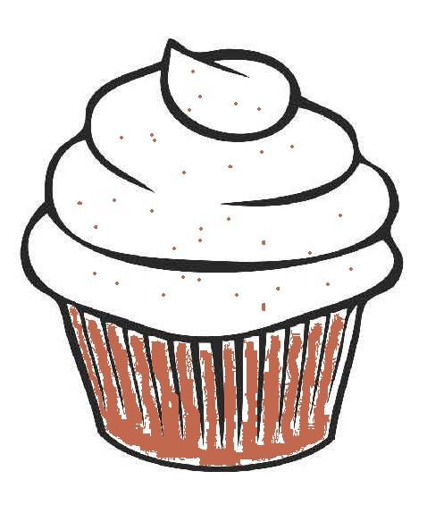 478x565 Easy Cupcake Drawing Realistic Cupcake Drawing