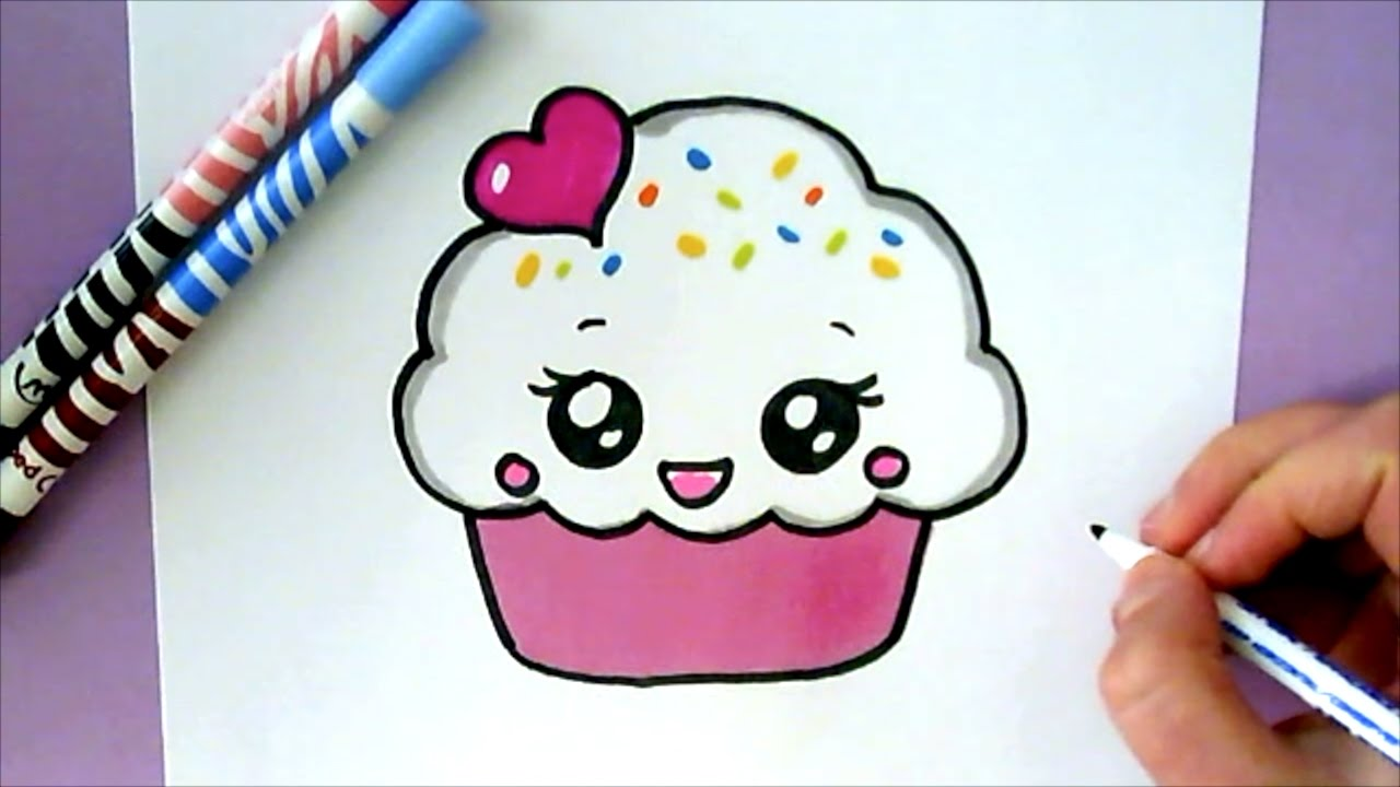 1280x720 How To Draw A Cute Cupcake