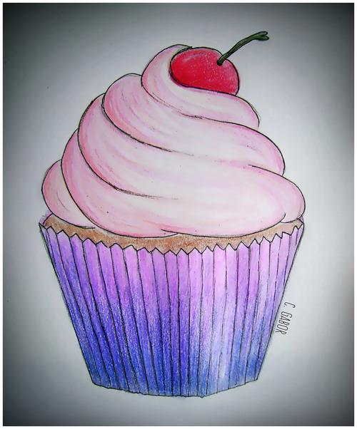 500x602 Cupcake Drawing Via Tumblr On We Heart It