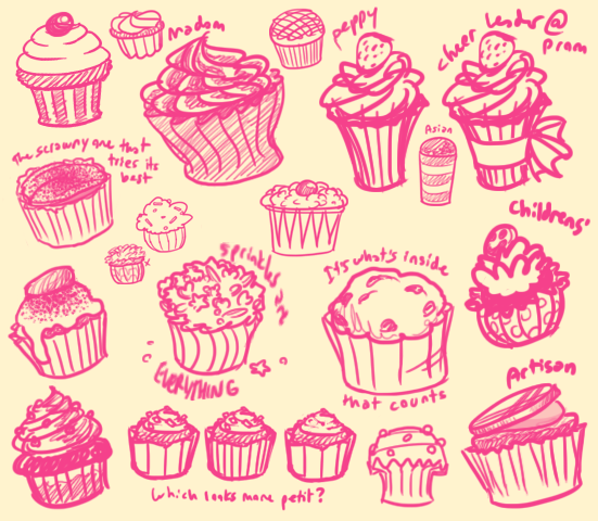 551x480 Cupcake Design Exploration By Yukotapioca