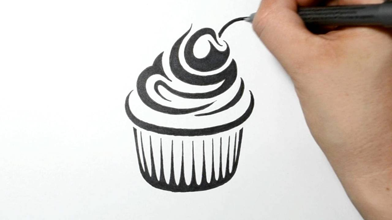 1280x720 How To Draw A Cupcake