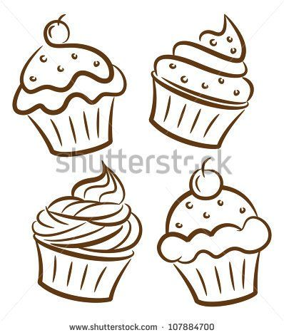 398x470 Image Result For Drawing Cupcakes Rockabilly