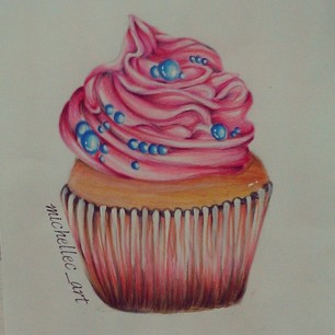 306x306 Cupcake Drawing By Michellecart