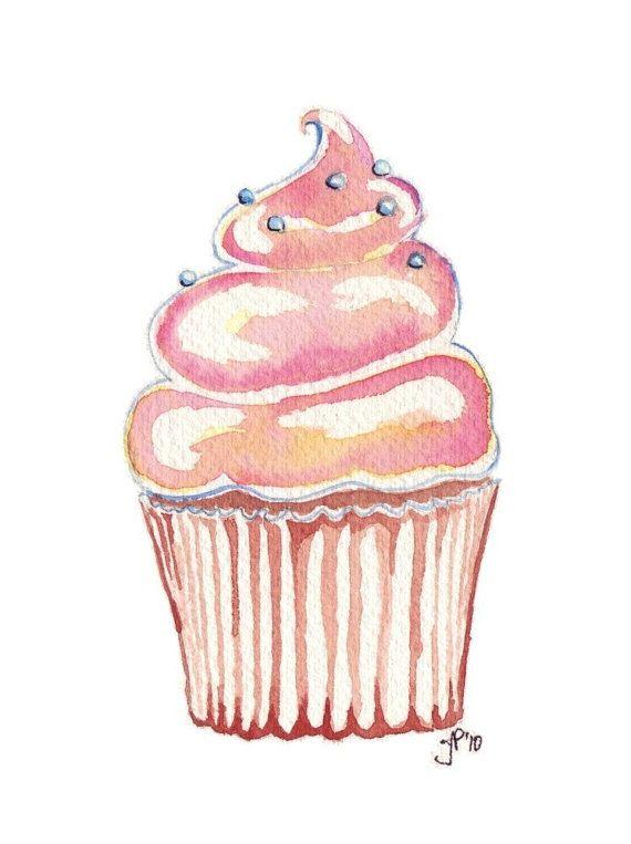 570x763 Drawn Cupcake Simple